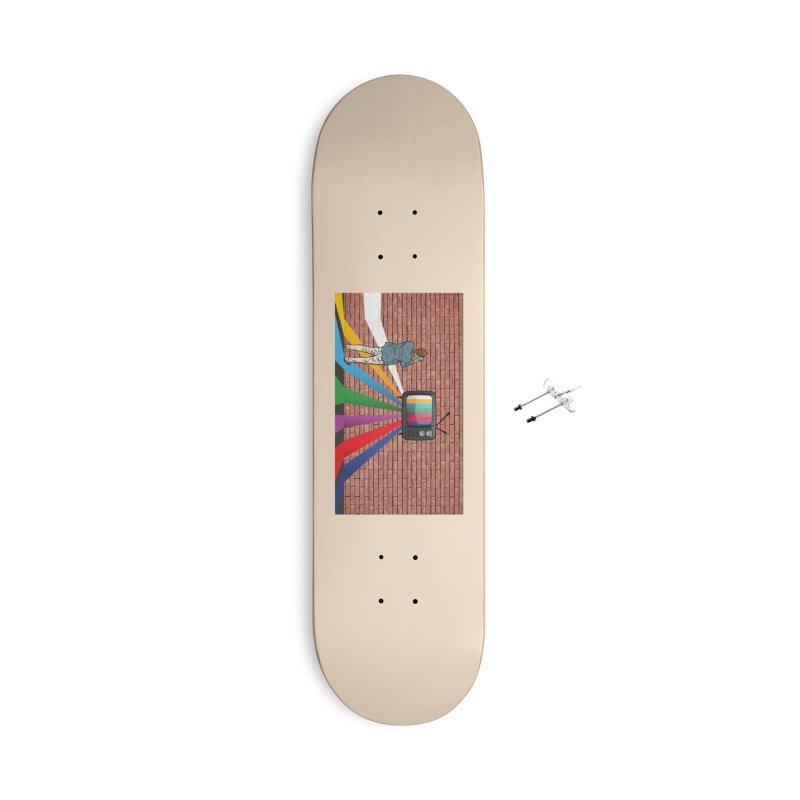 Brick Wall Accessories With Hanging Hardware Skateboard by Turkeylegsray's Artist Shop