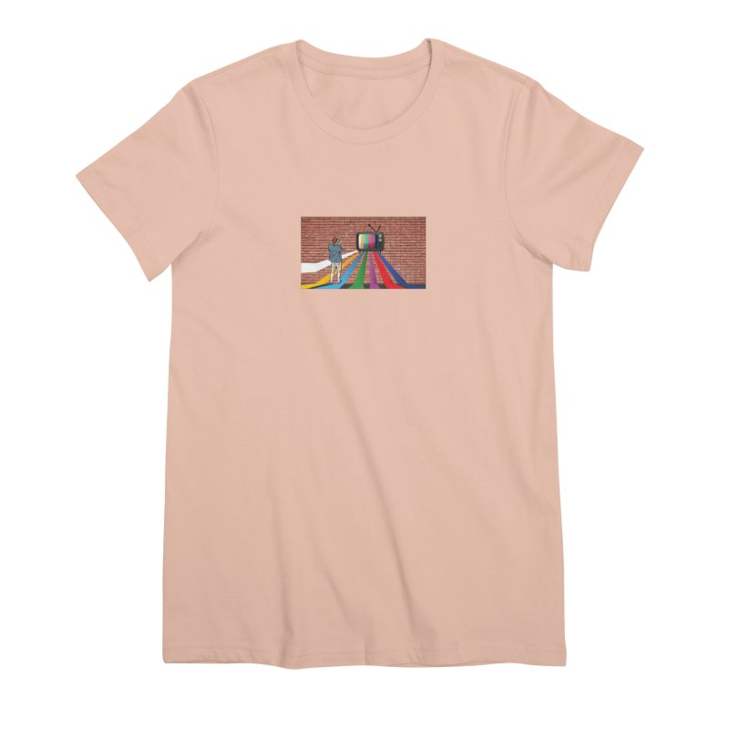 Brick Wall Women's Premium T-Shirt by Turkeylegsray's Artist Shop