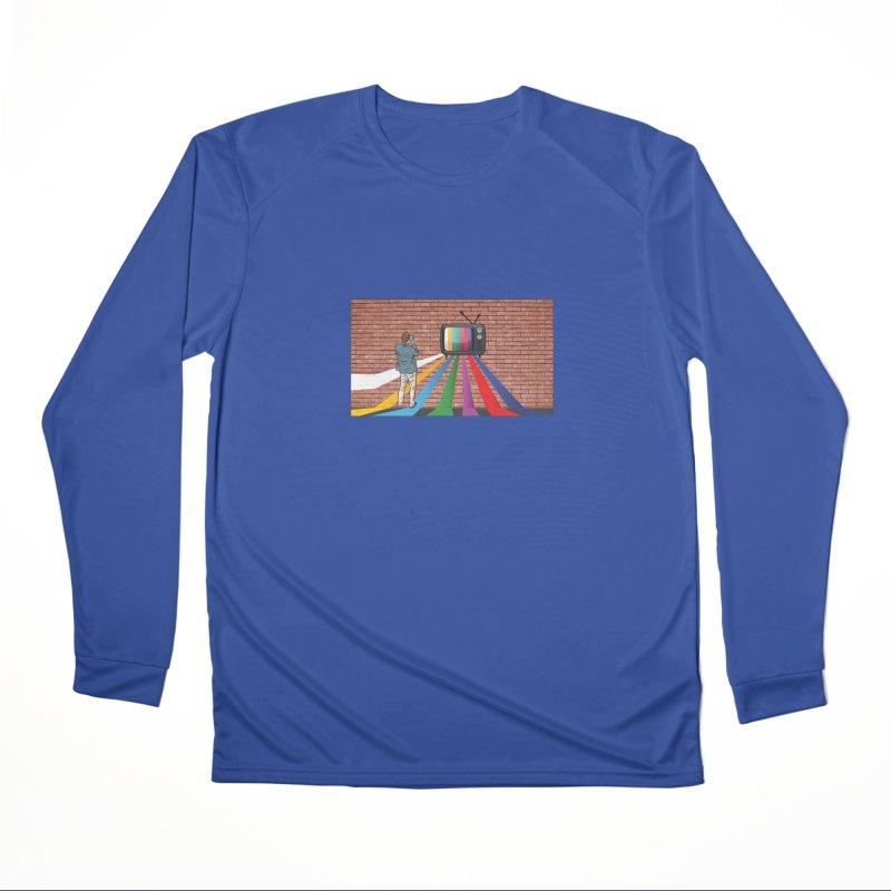 Brick Wall Men's Performance Longsleeve T-Shirt by Turkeylegsray's Artist Shop