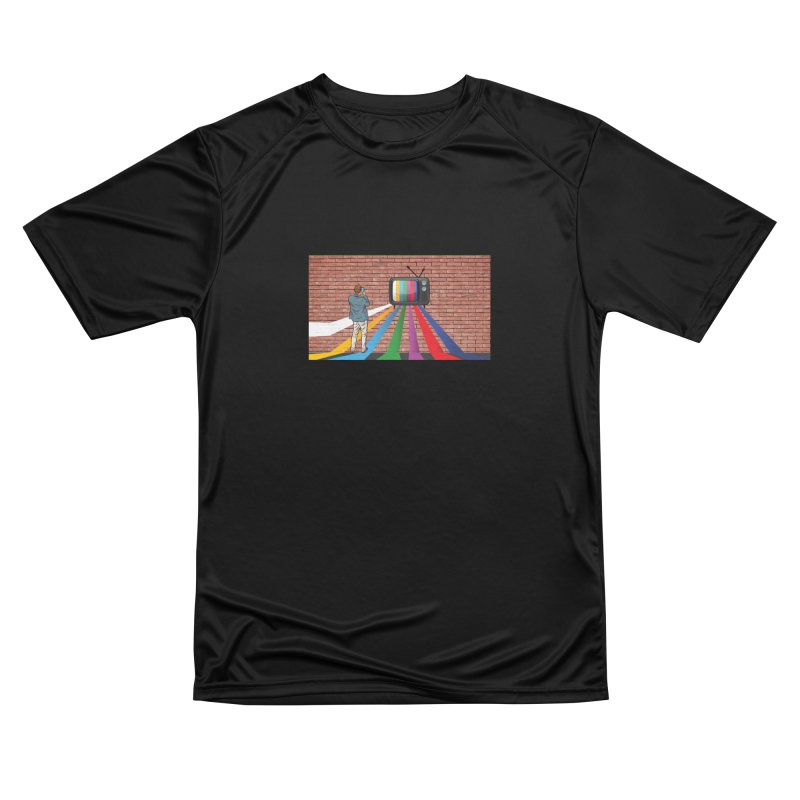 Brick Wall Men's Performance T-Shirt by Turkeylegsray's Artist Shop
