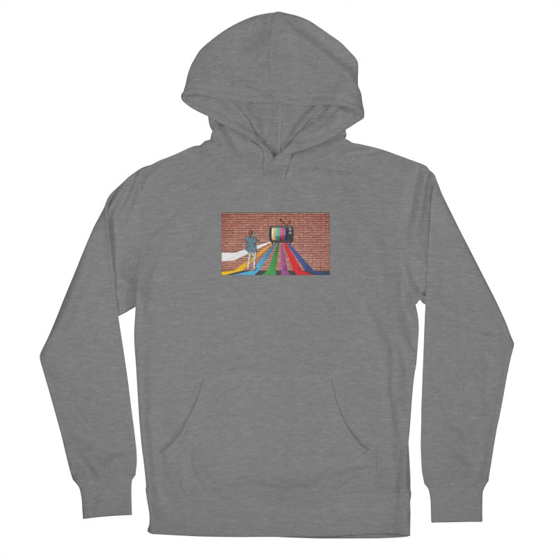 Brick Wall Women's French Terry Pullover Hoody by Turkeylegsray's Artist Shop