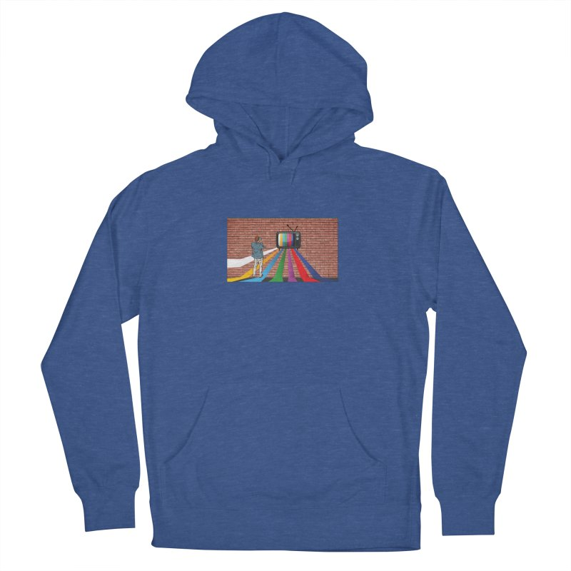 Brick Wall Men's French Terry Pullover Hoody by Turkeylegsray's Artist Shop