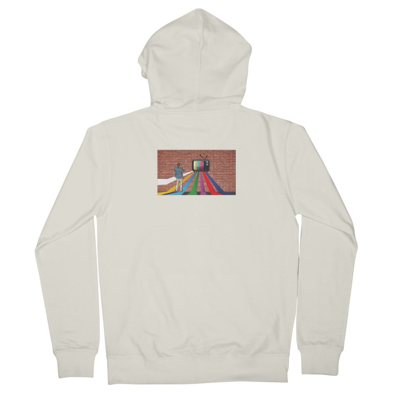 Brick Wall Women's French Terry Zip-Up Hoody by Turkeylegsray's Artist Shop