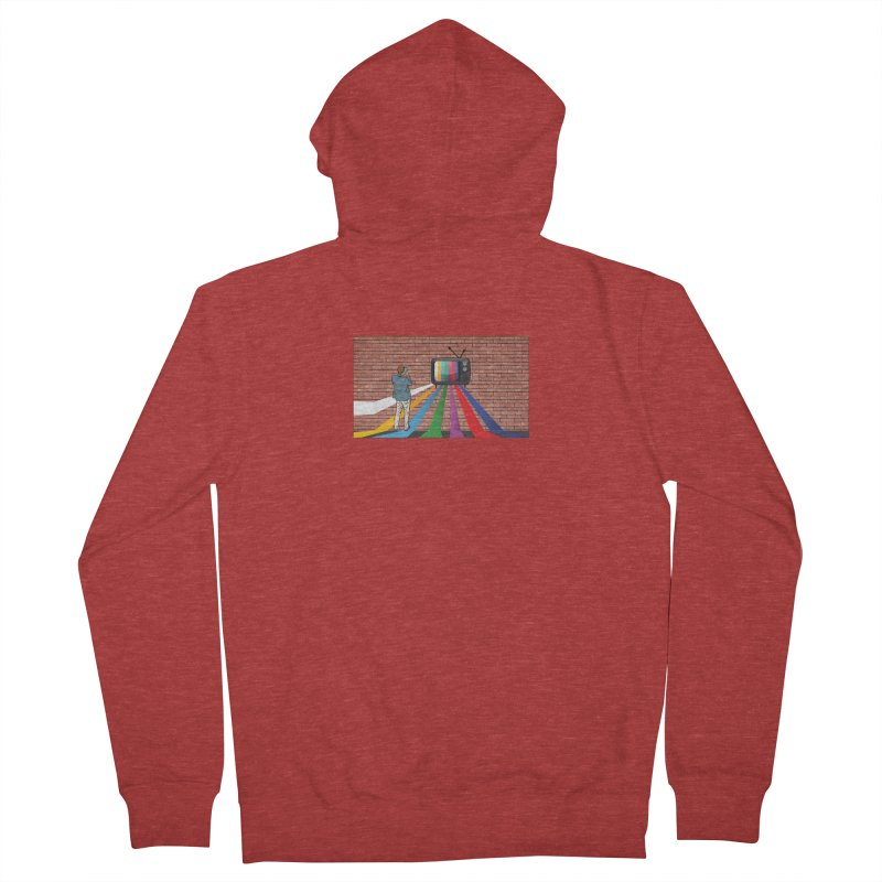 Brick Wall Men's French Terry Zip-Up Hoody by Turkeylegsray's Artist Shop