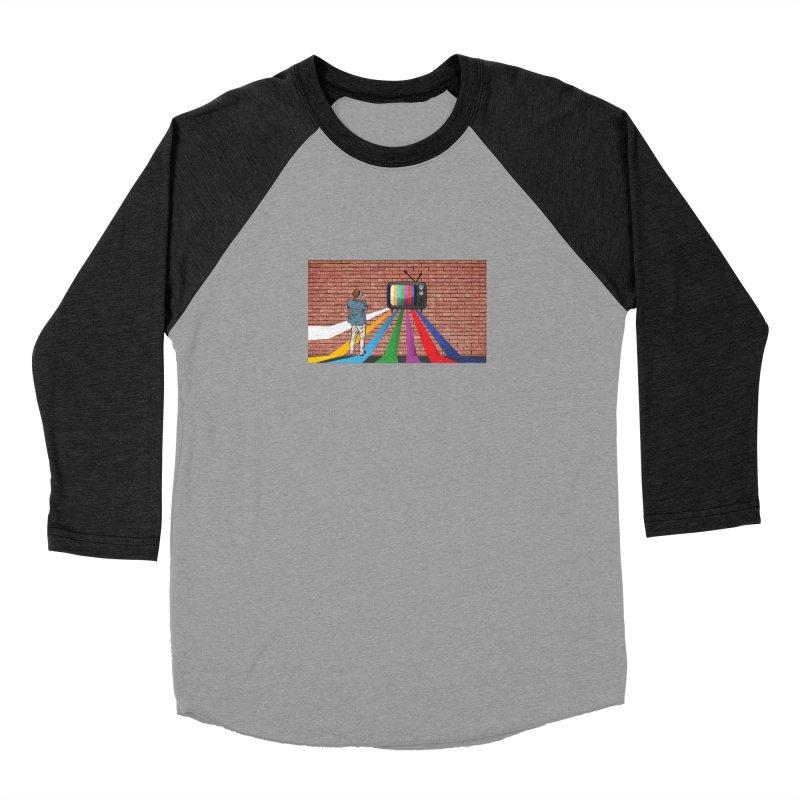Brick Wall Men's Baseball Triblend Longsleeve T-Shirt by Turkeylegsray's Artist Shop