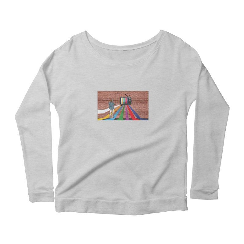 Brick Wall Women's Scoop Neck Longsleeve T-Shirt by Turkeylegsray's Artist Shop