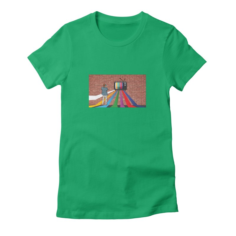 Brick Wall Women's Fitted T-Shirt by Turkeylegsray's Artist Shop