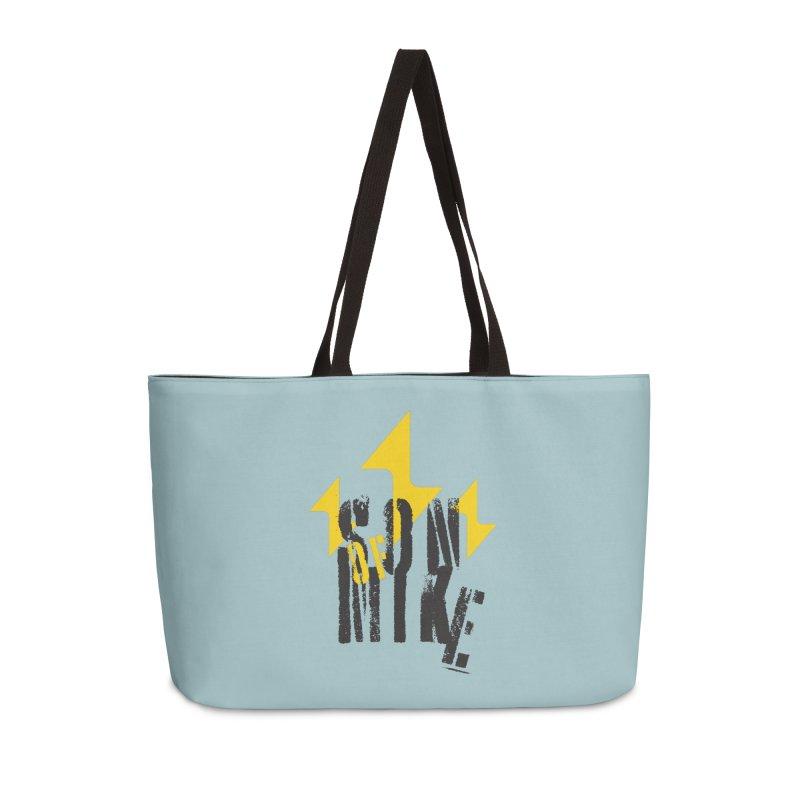 """SON OF MIKE """"Lightning II"""" Accessories Weekender Bag Bag by Turkeylegsray's Artist Shop"""
