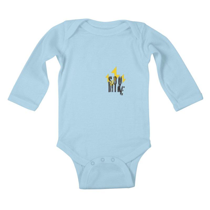 """SON OF MIKE """"Lightning II"""" Kids Baby Longsleeve Bodysuit by Turkeylegsray's Artist Shop"""