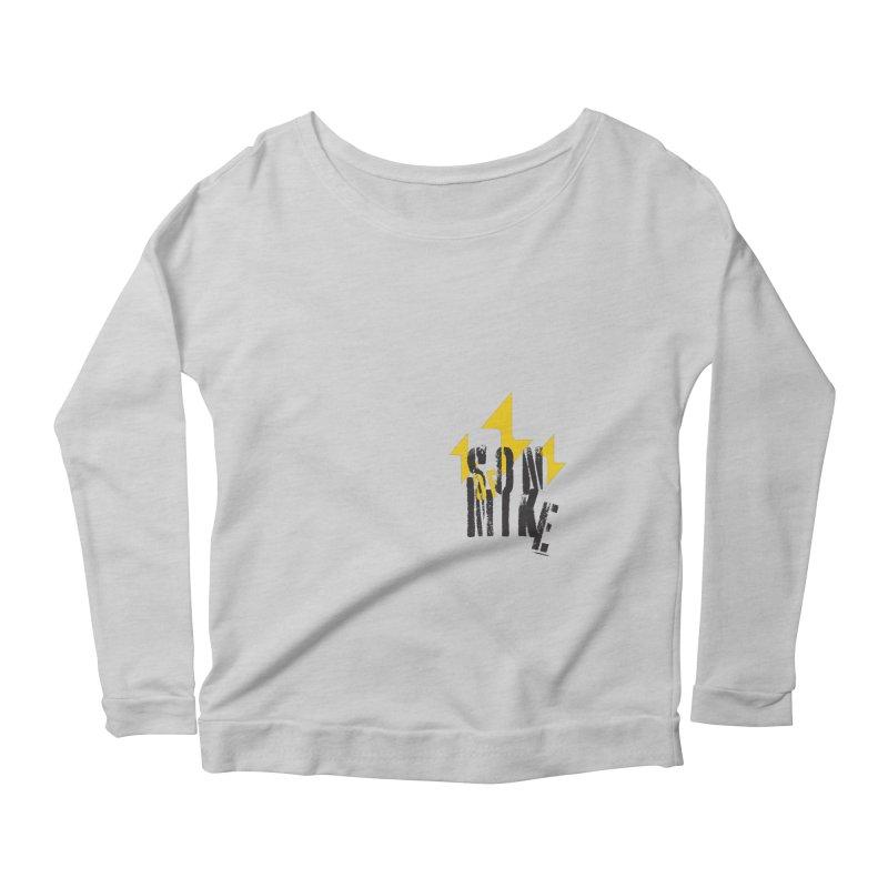 """SON OF MIKE """"Lightning II"""" Women's Scoop Neck Longsleeve T-Shirt by Turkeylegsray's Artist Shop"""
