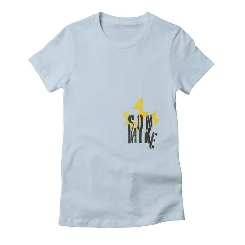 "SON OF MIKE ""Lightning II"" Women's Fitted T-Shirt by Turkeylegsray's Artist Shop"