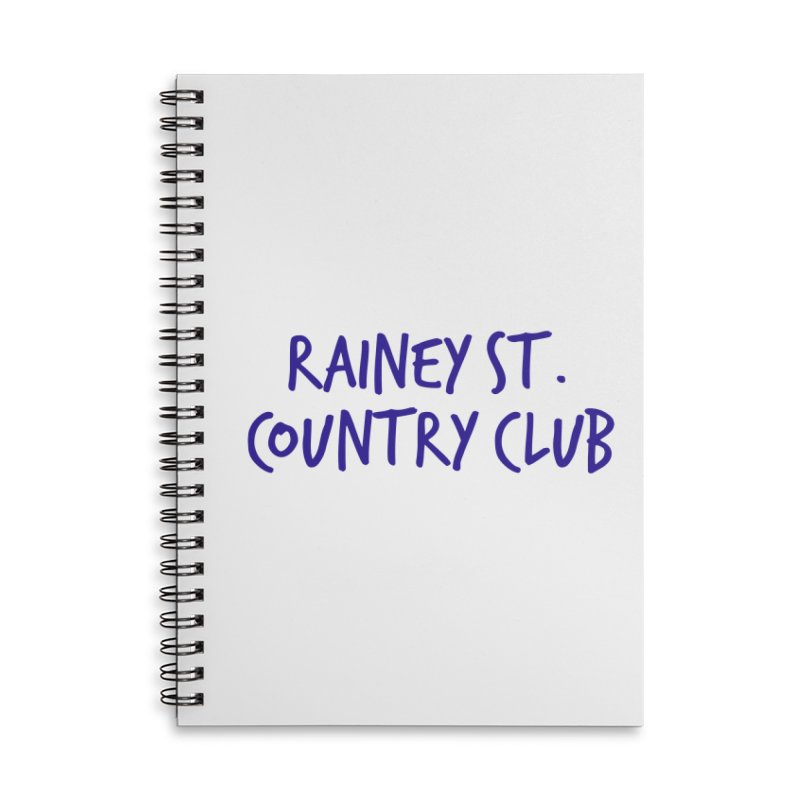 Rainey St. Country Club Accessories Lined Spiral Notebook by Turkeylegsray's Artist Shop