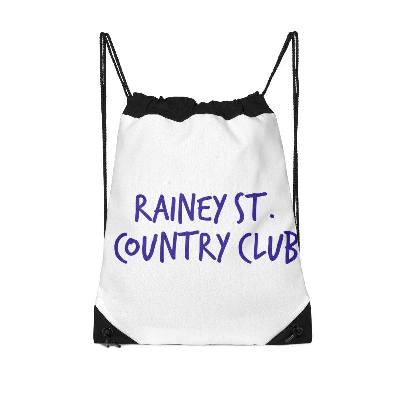 Rainey St. Country Club Accessories Drawstring Bag Bag by Turkeylegsray's Artist Shop
