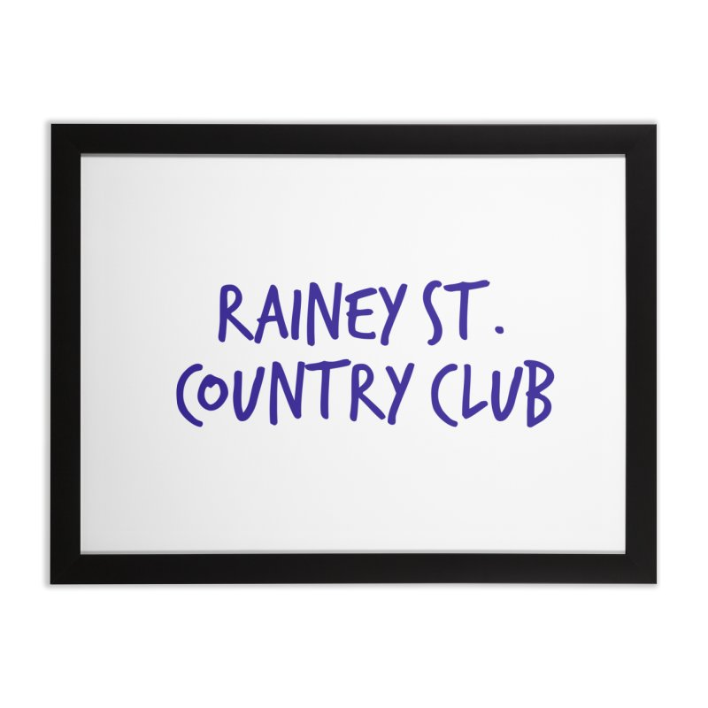 Rainey St. Country Club Home Framed Fine Art Print by Turkeylegsray's Artist Shop