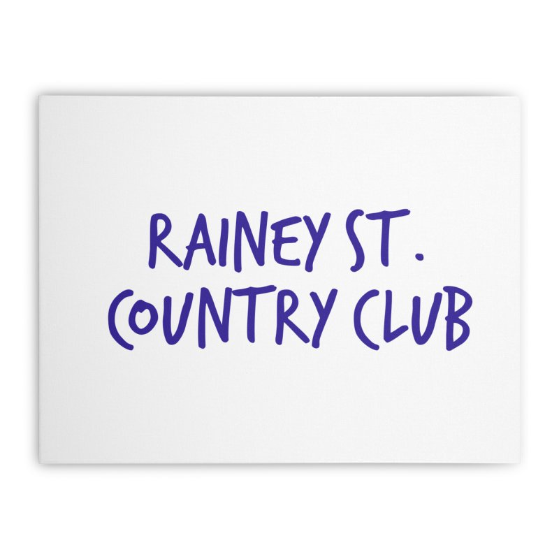 Rainey St. Country Club Home Stretched Canvas by Turkeylegsray's Artist Shop