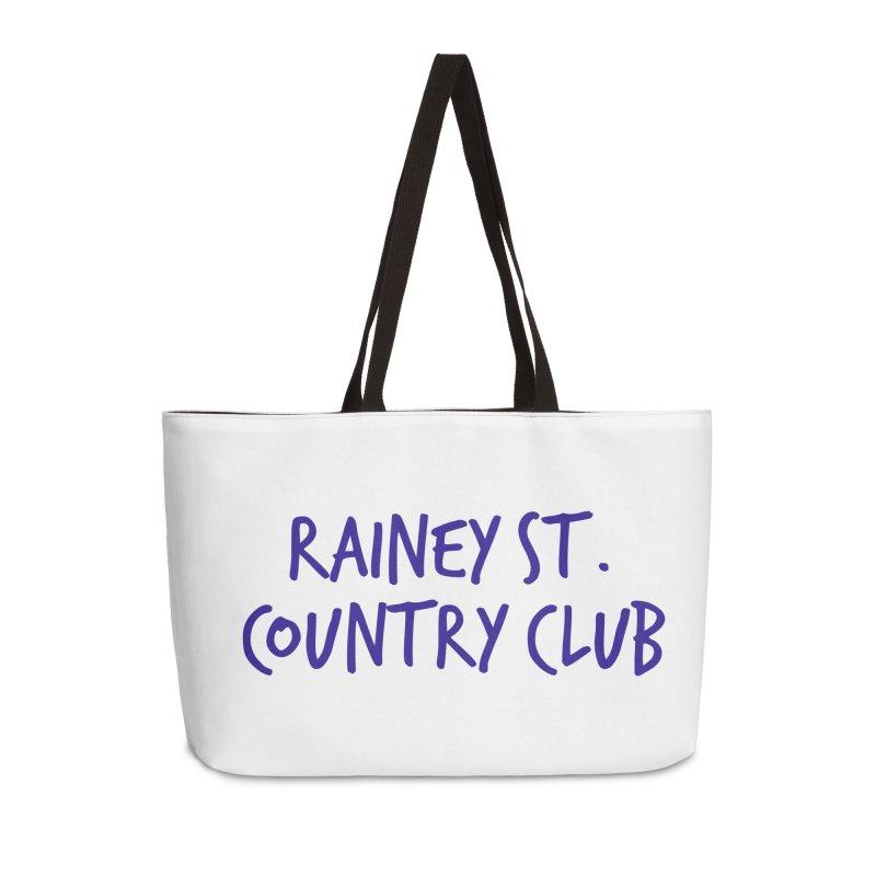 Rainey St. Country Club Accessories Weekender Bag Bag by Turkeylegsray's Artist Shop