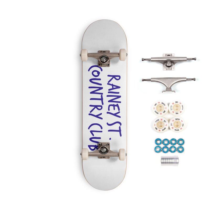 Rainey St. Country Club Accessories Complete - Premium Skateboard by Turkeylegsray's Artist Shop