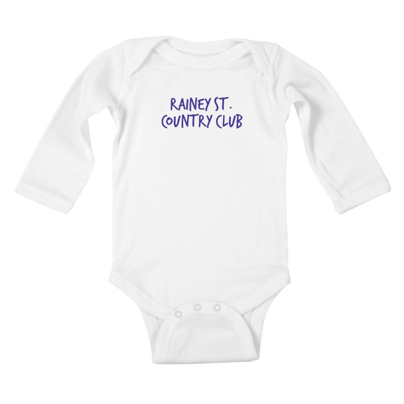 Rainey St. Country Club Kids Baby Longsleeve Bodysuit by Turkeylegsray's Artist Shop