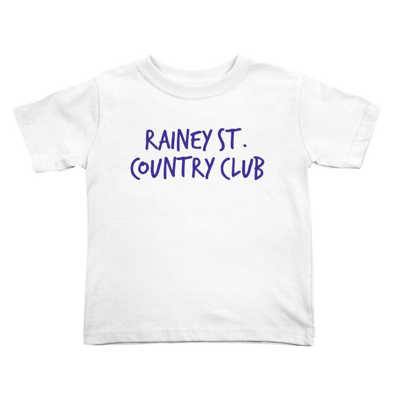 Rainey St. Country Club Kids Toddler T-Shirt by Turkeylegsray's Artist Shop