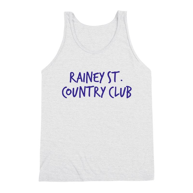 Rainey St. Country Club Men's Triblend Tank by Turkeylegsray's Artist Shop