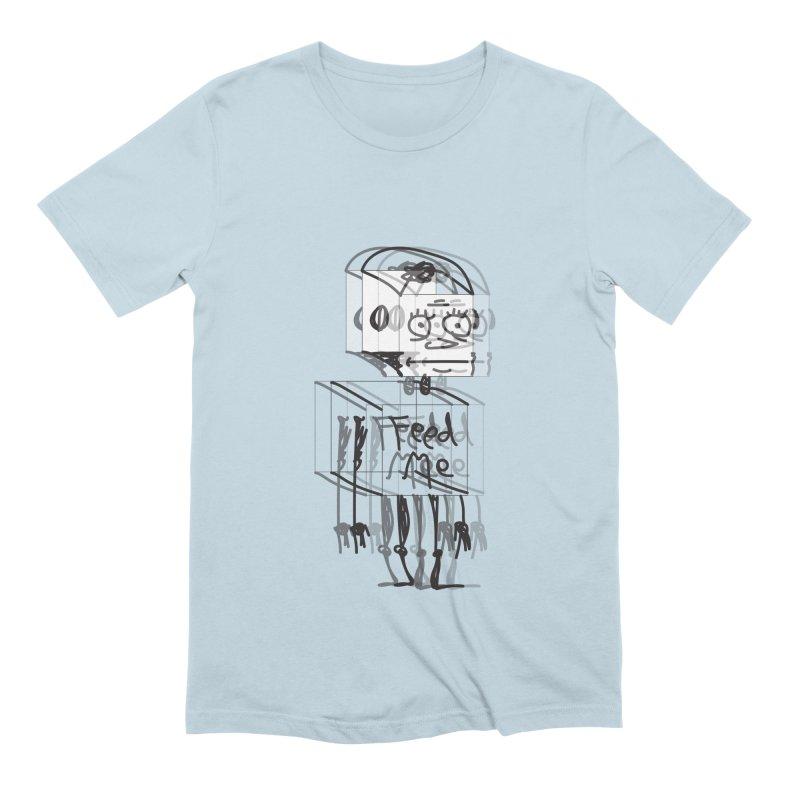 Doodle Bot Men's Extra Soft T-Shirt by Turkeylegsray's Artist Shop