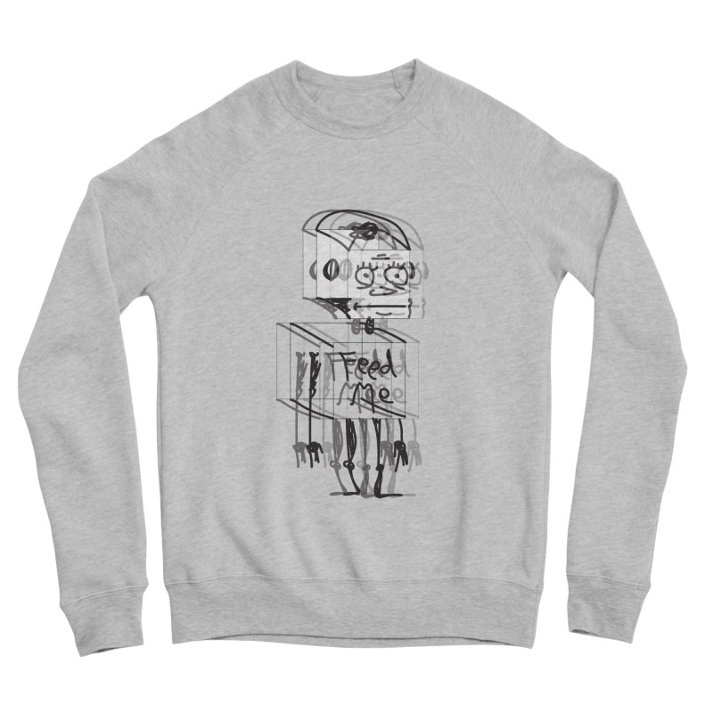 Doodle Bot Women's Sponge Fleece Sweatshirt by Turkeylegsray's Artist Shop