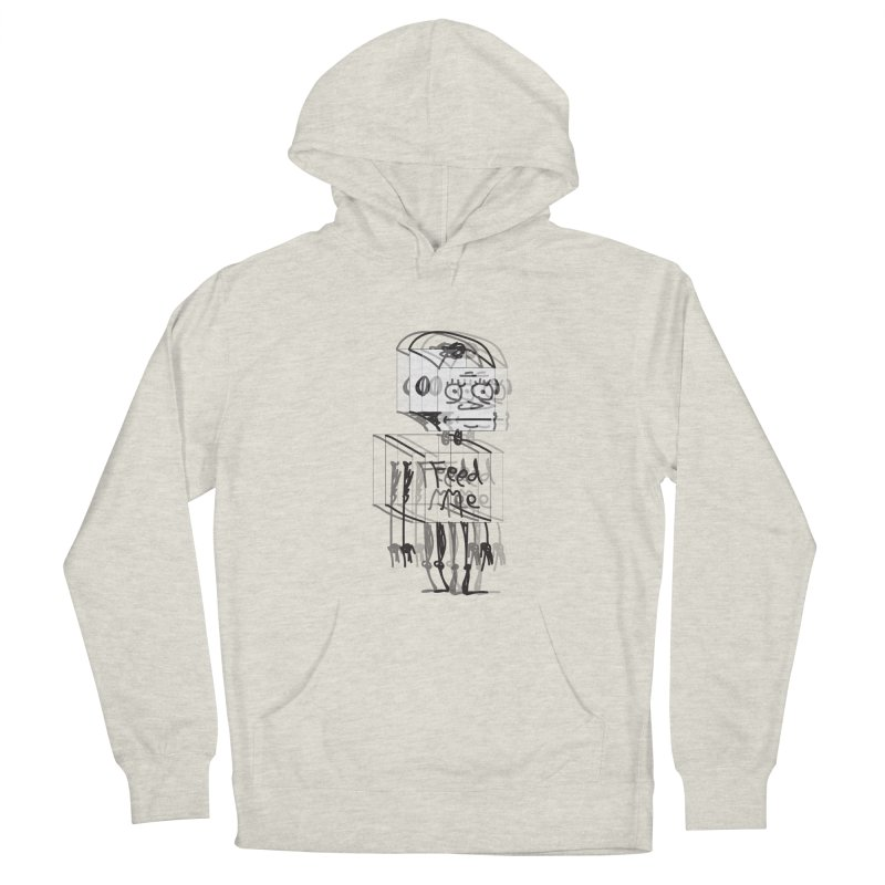 Doodle Bot Men's French Terry Pullover Hoody by Turkeylegsray's Artist Shop