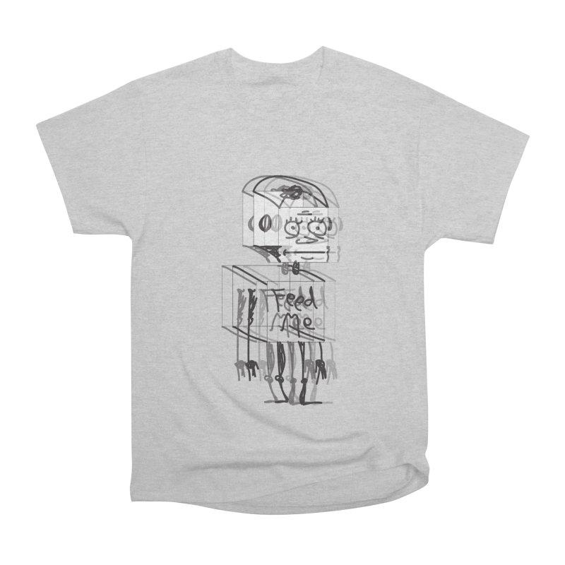 Doodle Bot Men's Heavyweight T-Shirt by Turkeylegsray's Artist Shop