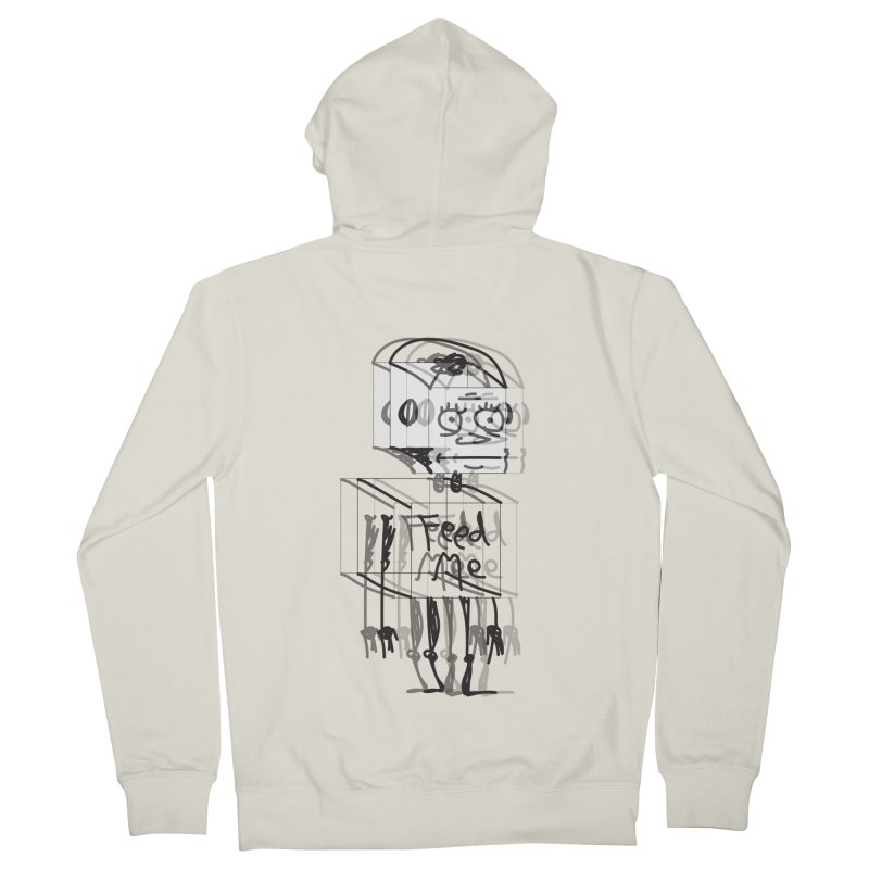 Doodle Bot Men's French Terry Zip-Up Hoody by Turkeylegsray's Artist Shop