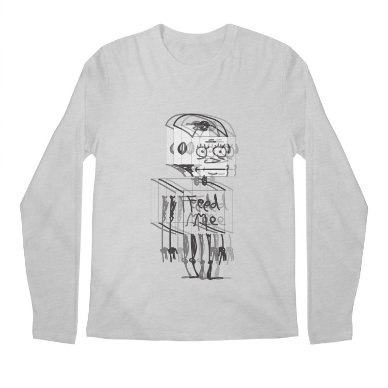 Doodle Bot Men's Regular Longsleeve T-Shirt by Turkeylegsray's Artist Shop