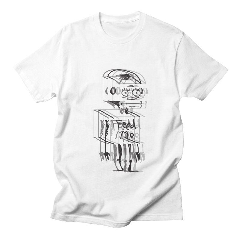 Doodle Bot Men's Regular T-Shirt by Turkeylegsray's Artist Shop