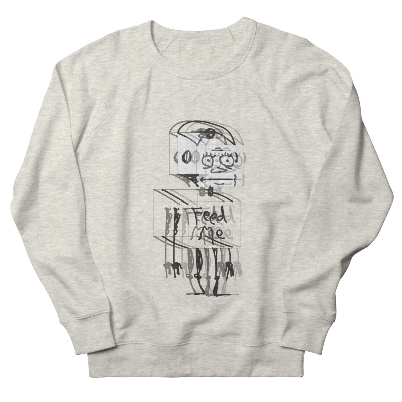 Doodle Bot Women's French Terry Sweatshirt by Turkeylegsray's Artist Shop