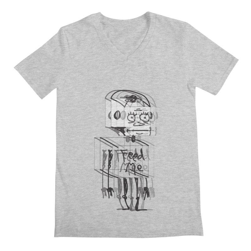 Doodle Bot Men's Regular V-Neck by Turkeylegsray's Artist Shop