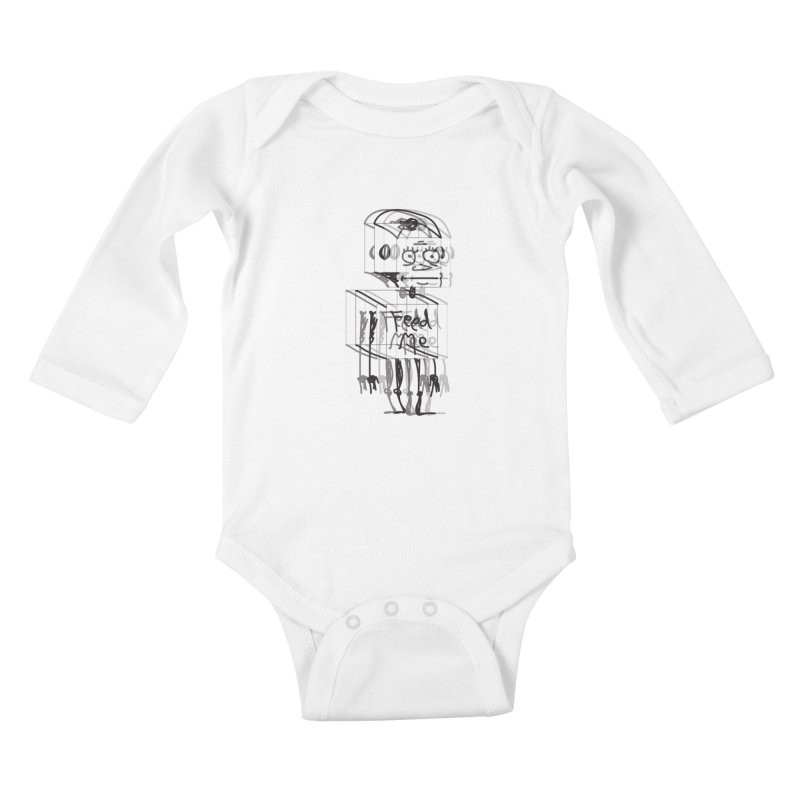 Doodle Bot Kids Baby Longsleeve Bodysuit by Turkeylegsray's Artist Shop