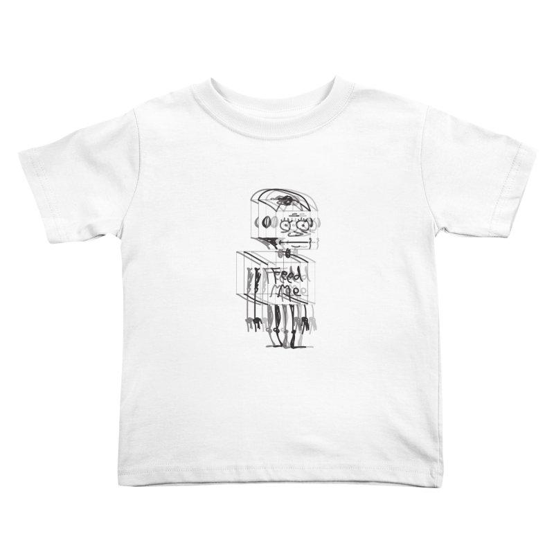 Doodle Bot Kids Toddler T-Shirt by Turkeylegsray's Artist Shop