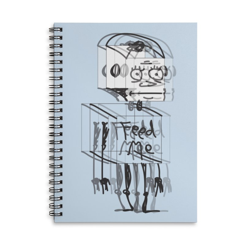 Doodle Bot Accessories Lined Spiral Notebook by Turkeylegsray's Artist Shop