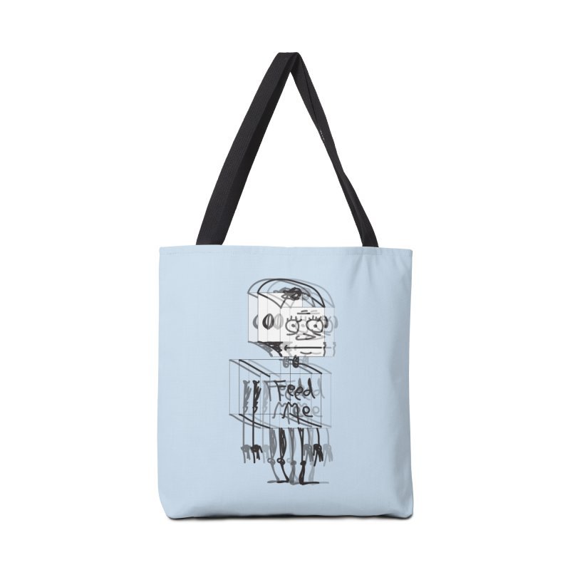 Doodle Bot Accessories Tote Bag Bag by Turkeylegsray's Artist Shop