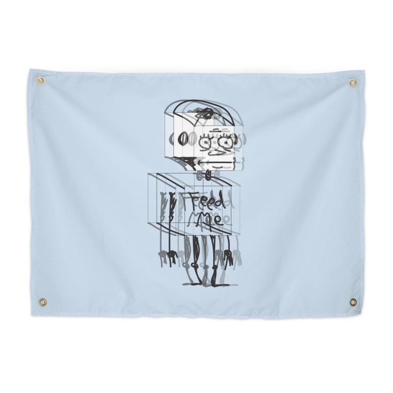 Doodle Bot Home Tapestry by Turkeylegsray's Artist Shop