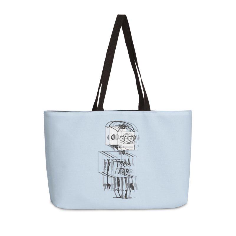 Doodle Bot Accessories Weekender Bag Bag by Turkeylegsray's Artist Shop