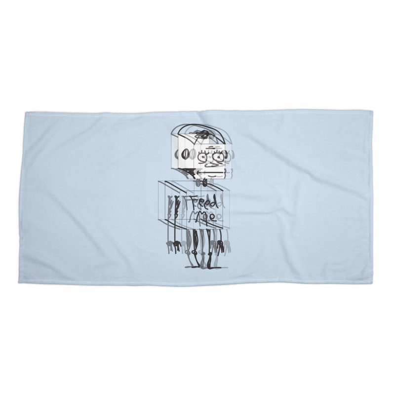 Doodle Bot Accessories Beach Towel by Turkeylegsray's Artist Shop