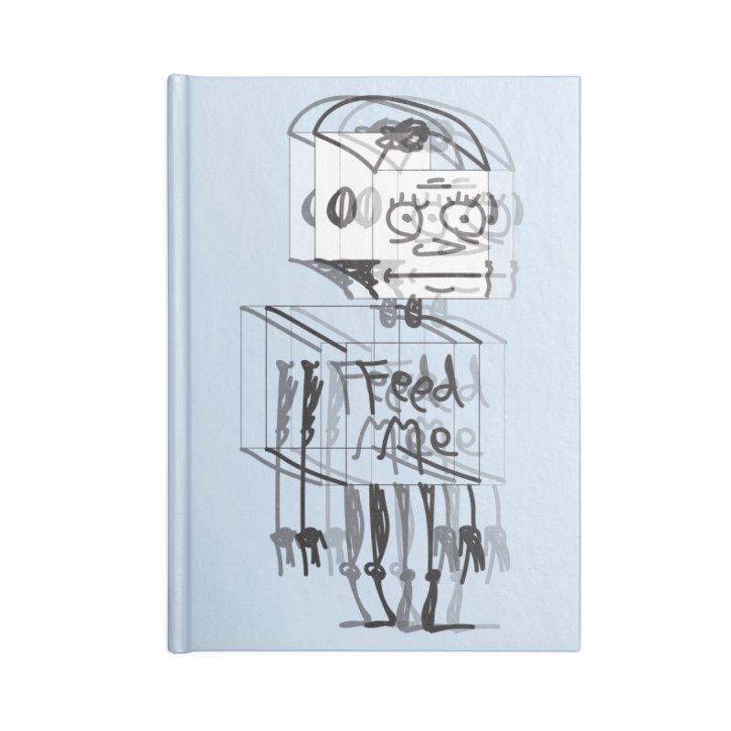 Doodle Bot Accessories Blank Journal Notebook by Turkeylegsray's Artist Shop