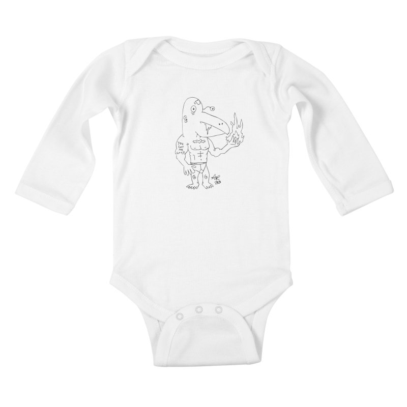 Angry Bird Kids Baby Longsleeve Bodysuit by Turkeylegsray's Artist Shop