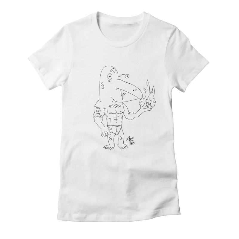Angry Bird Women's Fitted T-Shirt by Turkeylegsray's Artist Shop
