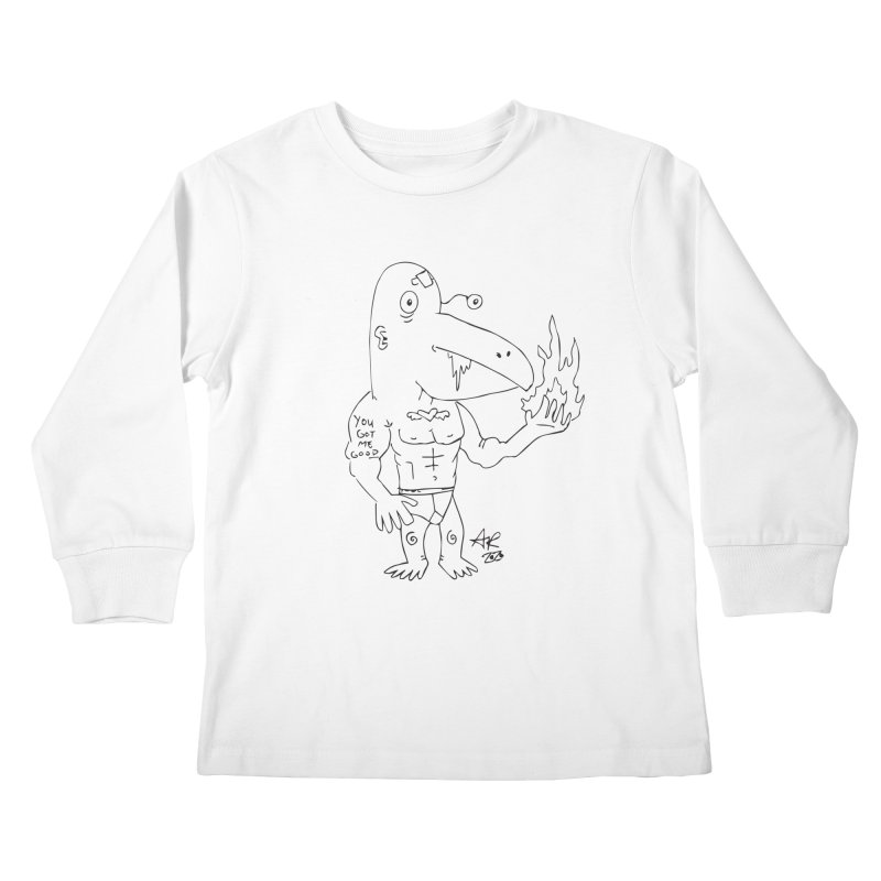 Angry Bird Kids Longsleeve T-Shirt by Turkeylegsray's Artist Shop