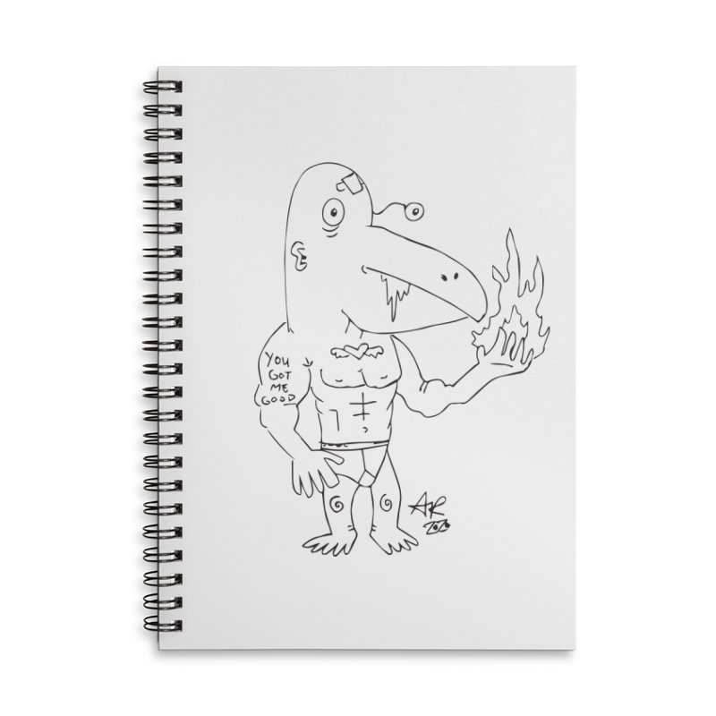 Angry Bird Accessories Lined Spiral Notebook by Turkeylegsray's Artist Shop