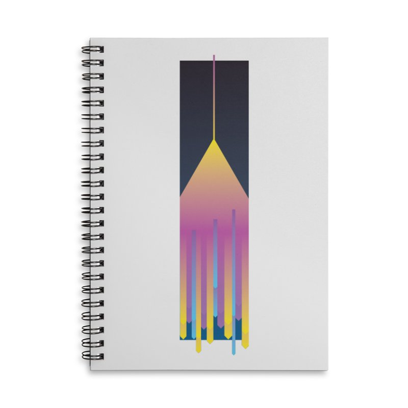Faded Arrow Accessories Lined Spiral Notebook by Turkeylegsray's Artist Shop