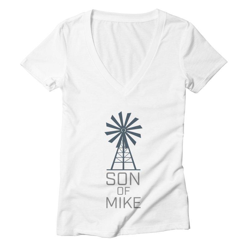 "Son of Mike ""Windmill"" Women's Deep V-Neck V-Neck by Turkeylegsray's Artist Shop"
