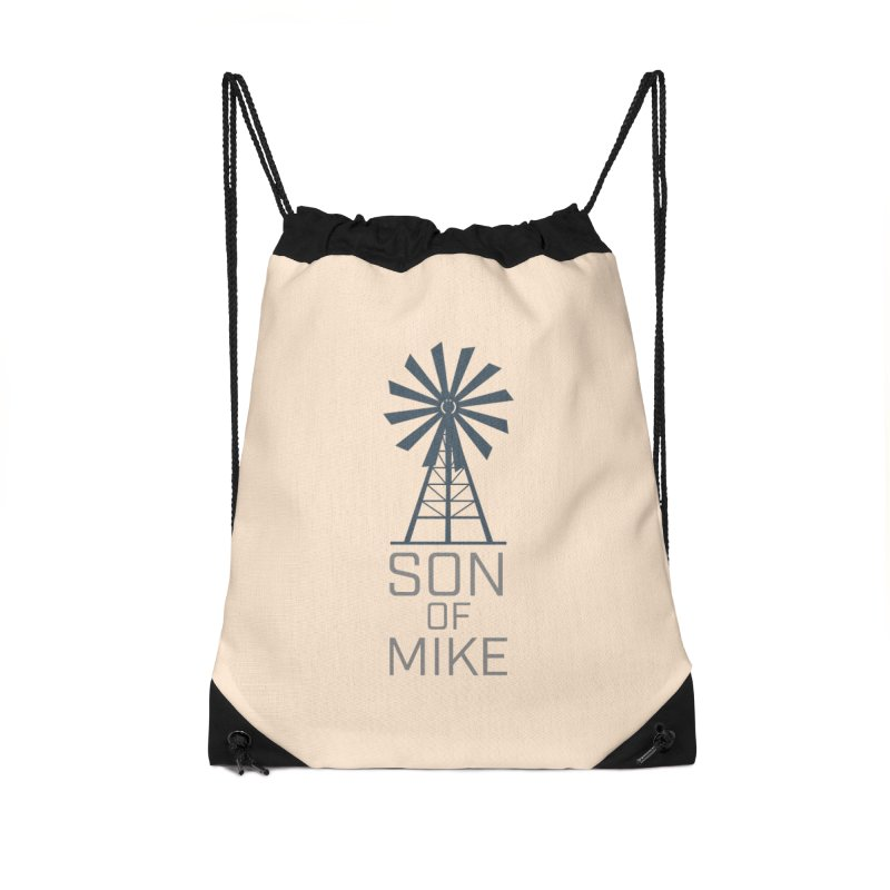 "Son of Mike ""Windmill"" Accessories Drawstring Bag Bag by Turkeylegsray's Artist Shop"