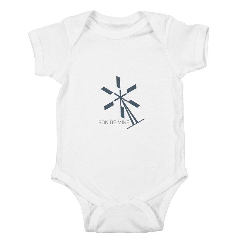 """Son of Mike """"Windmill II"""" Kids Baby Bodysuit by Turkeylegsray's Artist Shop"""