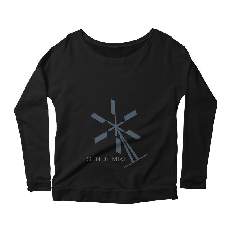 """Son of Mike """"Windmill II"""" Women's Scoop Neck Longsleeve T-Shirt by Turkeylegsray's Artist Shop"""